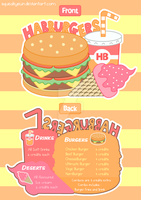 Habburgers Menu Design by SqueakyToybox