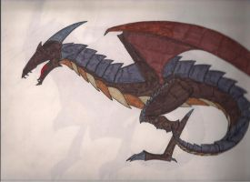 Armored Wyvern by DRAGONLOVER101040