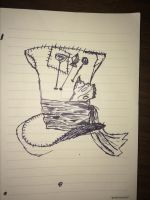Hatter's Hat Rough Sketch by TheMoustacheFilms
