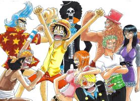 one piece, happy by heivais