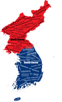 Korea map Two Koreas by Saint-Tepes