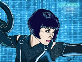 Quorra from Tron Legacy by LadySmileySilver