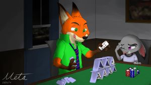 Nick and Judy Poker Table by Mr-Punctual