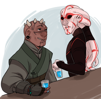 A SITH AND A JEDI WALK INTO A BAR by AgentDax