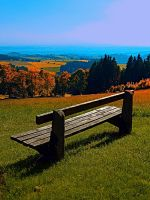 Summertime scenery and the bench to watch it by patrickjobst