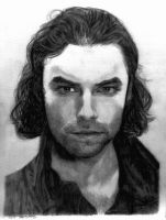 Pencil Drawing Aidan Turner in Being Human by SHParsons