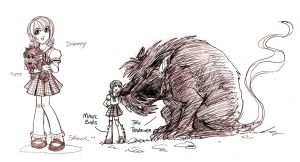 DOROTHY and TOTO by jorgebreak