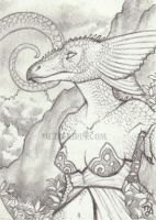Dragoness ACEO by thedancingemu