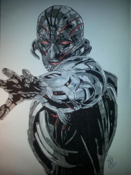 Ultron by Emmris-Dessin