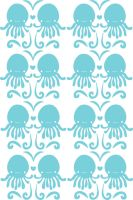 Blue Octopus Pattern by deconstructedstars
