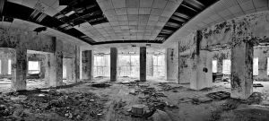 Abandoned building by Lonely-black-cat