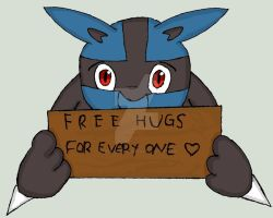 Lucario want give hugs by Fangy-From-Shadow