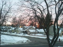 Sunset on a Winters day by TheBlondeGinger