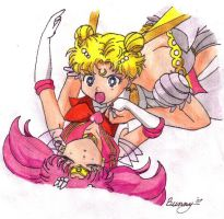 Serenity saves Chibiusa by Rabbit-of-the-Moon