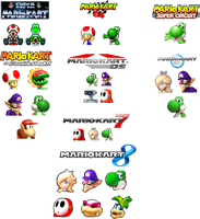 FAVOURITE MARIO KART CHARACTERS by geno2925