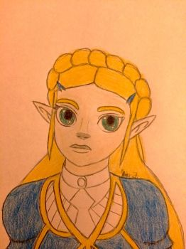 BoTW Princess Zelda colored version  by LOZRocksmysocks77