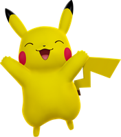 Cheerful Pikachu by ryanthescooterguy