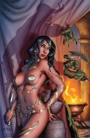 Dejah Thoris and the Green Men of Mars#2 cover by MelRubi