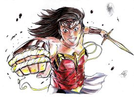 Wonder Woman - The Amazon Princess (Colored) by AtLeastimalive