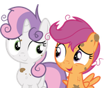 Scootaloo and Sweetie Belle by JoeMasterPencil