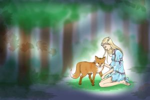 Leila and the Fox by MelanieLC
