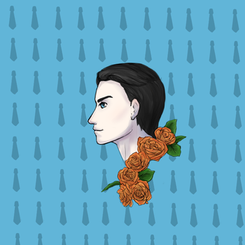 Artemis and his burnished orange roses by M03PS