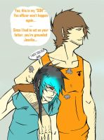 TEAL and ORANGE :: Father Figure by HastyLion