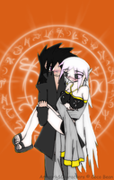 Coco and Lucifer by Akask1-chibi