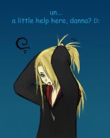 Deidara: Ponytail Problems by FeatherHarp