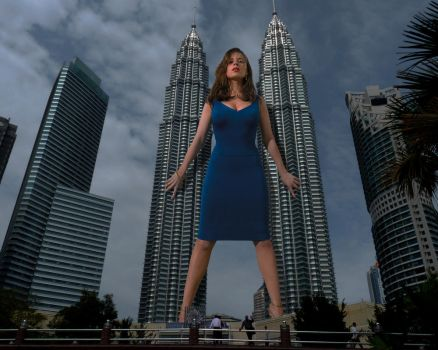 Hayley Atwell's Twin Towers by B3 by B3Three