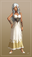Lyna in dress by EastCoastCanuck