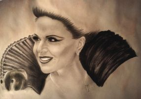 Lana Parrilla, the Evil Queen by LadybirdMa