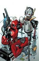 Deadpool-Ultron variant cover by EdMcGuinness
