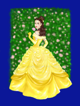 Lily Collins as Belle by AmadeuxWay