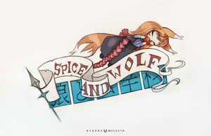 Spice And Wolf wrist tattoo design by FoxInShadow