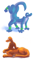 quadrupedal hexapaintings by Hexaditidom