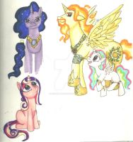 MLP: Princess origins design dump by KHwhitelion