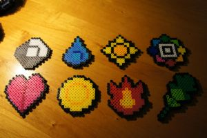 Pokemon Badges by Sayanflame