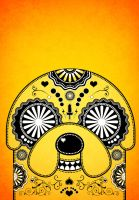 Jake Adventure Time Sugar Skull Poster - Orange by PICKLEDLIVER