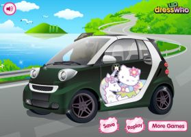 Hello Kitty Car by kimpossiblelove