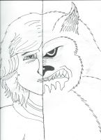 The Beast within (SKETCH) by LonelyWerewolf123