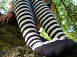 Emo Stripy Socks by emo-bex