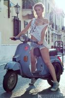 Barbie on a Vespa... by KostasKappa