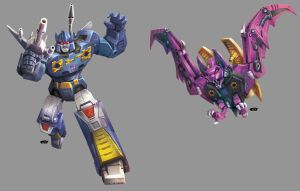Rumble and Ratbat: Transformers by ZeroMayhem