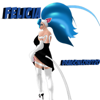 Felicia off to work! by DragonLord720
