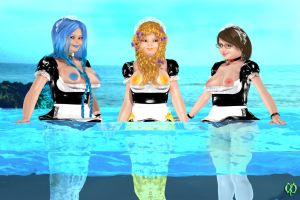 Mer-maids by Chronophontes