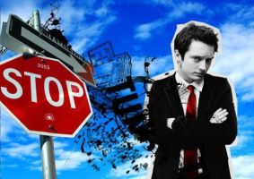 Elijah and Stopsign by martianindenial