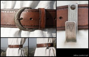 Wide Belt With Shield Hook by Adhras