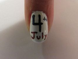 4th of July nails closeup by QueenAliceOfAwesome