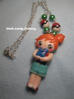 Misty holds azurill necklace by gothic-yuna